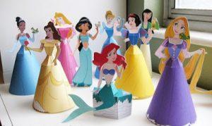 Kâğıttan 3D Disney Prenses Yapımı