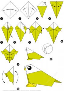 Origami ile kuş Yapımı